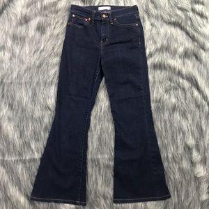 Madewell Flea Market Flare Jeans Dark Wash